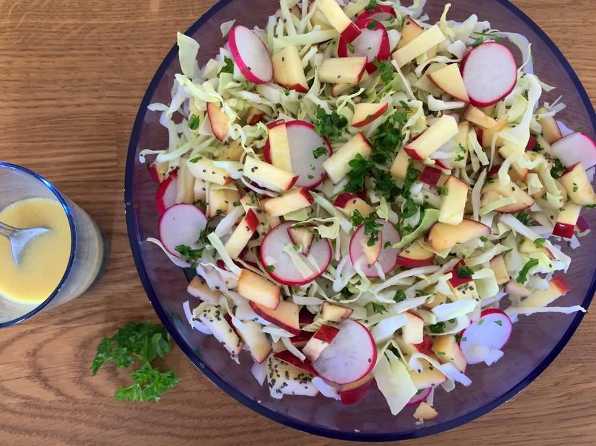 Forårssalat med spidskål & radiser, Nem mad, Svinningegård, Nem mad med kål