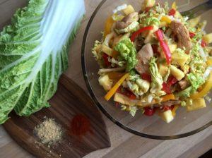 Nem mad - Nem kålsalat med kylling, kinakål & peberfrugt