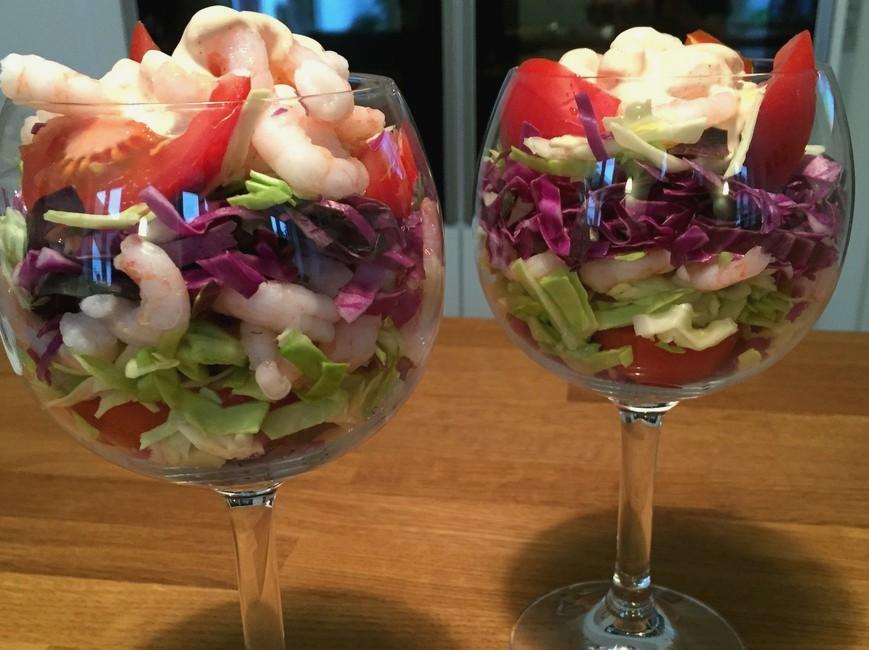 Nem mad - Nem rejecocktail med rød spidskål & salatkål