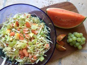Nem mad - Nem sommerkålsalat med spidskål & vandmelon